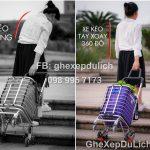 Xe Kéo Đi Chợ 6 Bánh Leo Cầu Thang, Tay Xoay 360 Độ – Tặng kèm Túi – Phiên Bản 2020