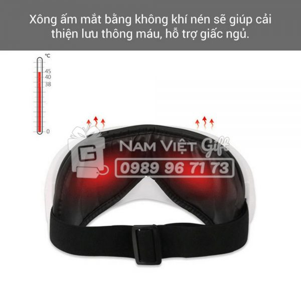 [BH 1 NĂM]Máy Mát Xa Xông Hơi Cho Mắt Eye Massage Tích Hợp Bluetooth Nghe Nhạc Thư Giãn